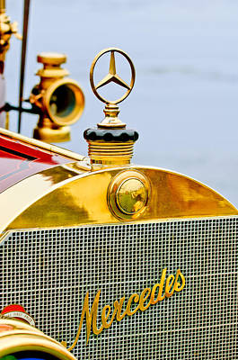 Pebble Beach Photograph - 1911 Mercedes 50 Hp Maythorn Tourer Hood Ornament by Jill Reger