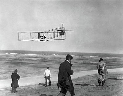 1911 One Of The Wright Brothers Flying Art Print