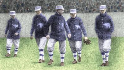 Baseball Drawing - 1911 Philadelphia Athletics by Steve Dininno