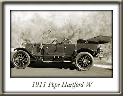 Photograph - 1911 Pope Hartford W by Jill Reger
