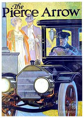 Digital Art - 1912 - Pierce Arrow Automobile Advertisement Poster - Color by John Madison
