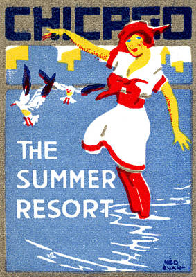Painting - 1912 Chicago The Summer Resort 2 by Historic Image