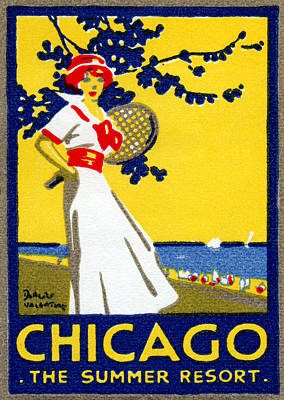 Painting - 1912 Chicago The Summer Resort by Historic Image