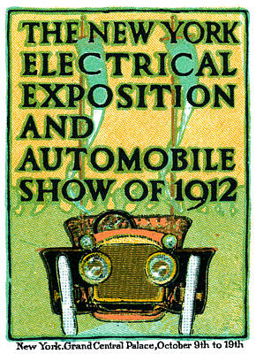 Painting - 1912 Electric Expo And Auto Show by Historic Image