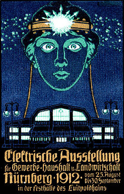 Painting - 1912 Electricity Expo Poster by Historic Image