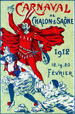 Painting - 1912 French Carnaval Poster by Historic Image