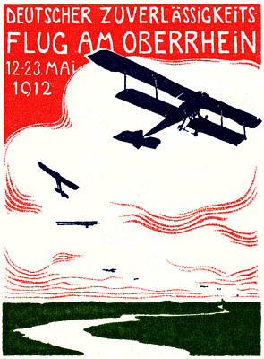 Painting - 1912 German Air Show by Historic Image