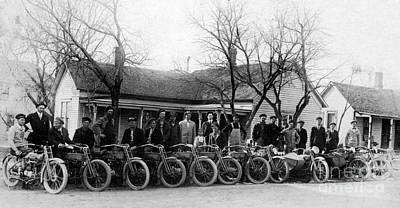 Kawasaki Photograph - 1912 Harley Motorcycle Club by Jon Neidert