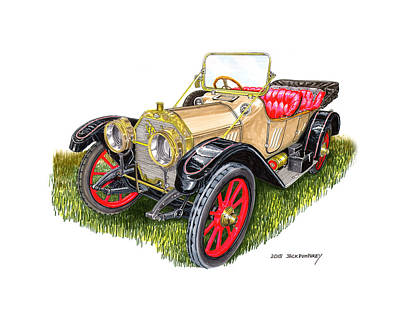 Painting - Oldsmobile Defender From 1912 by Jack Pumphrey