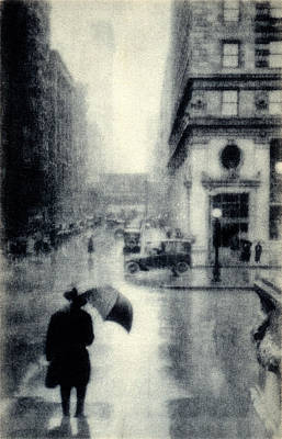 Painting - 1912 Rainy Day In Chicago by Historic Image