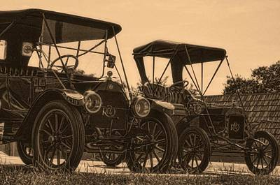 Photograph - 1912 Reo And 1908 Reo Automobiles by Tim McCullough