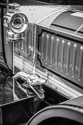 Photograph - 1912 Rolls-royce Silver Ghost Rothchild Et Fils Style Limousine Snake Horn -0711bw by Jill Reger