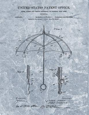 Umbrellas Mixed Media - 1912 Umbrella Patent by Dan Sproul