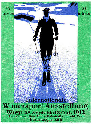 1912 Vienna Winter Sports Art Print by Historic Image
