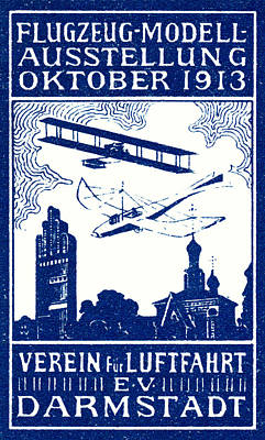 Historic Aviation Painting - 1913 Darmstadt Air Show by Historic Image