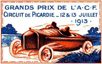Painting - 1913 Grand Prix Poster by Historic Image