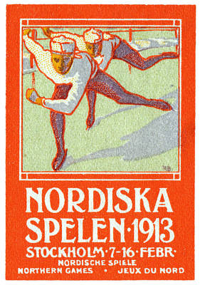 Painting - 1913 Nordic Games Poster by Historic Image