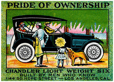 Painting - 1914 Chandler Automobile Poster by Historic Image