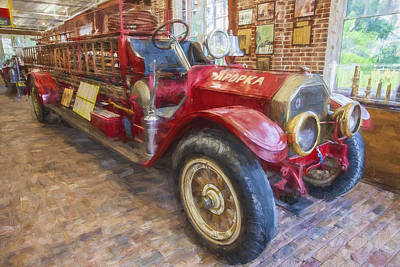 Photograph - 1914 Lafrance Fire Engine Painted  by Rich Franco
