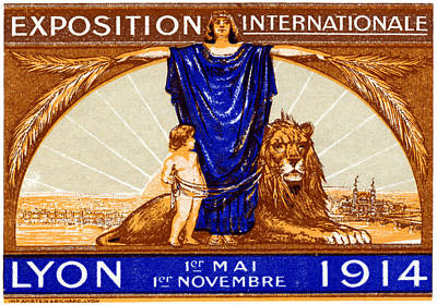 Painting - 1914 Lyon France Exposition by Historic Image