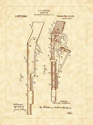 1914 Spring Gun Patent Art Art Print by Barry Jones
