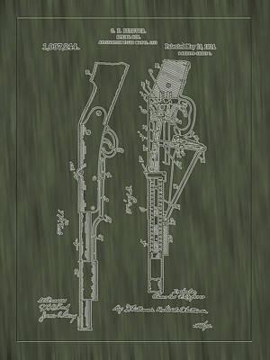 Photograph - 1914 Spring Gun Patent Art-green Woodgrain by Barry Jones