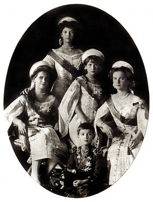 1914 The Romanov Children Print by Historic Image