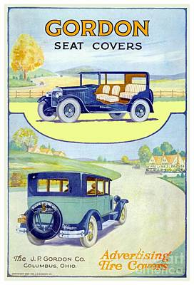 Digital Art - 1915 - Gordon Automotive Seat Cover Advertisement by John Madison