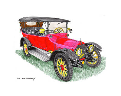 Painting - 1915 Cadillac Type 51 V 8 by Jack Pumphrey