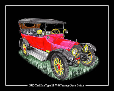 Photograph - 1915 Cadillac Type 51 V 8 Poster by Jack Pumphrey