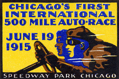 Painting - 1915 Chicago Auto Race by Historic Image