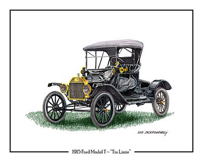 1915 Ford Model T Poster Art Print by Jack Pumphrey