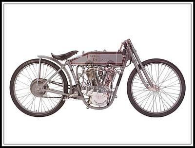 1915 Harley-davidson 11-k Art Print