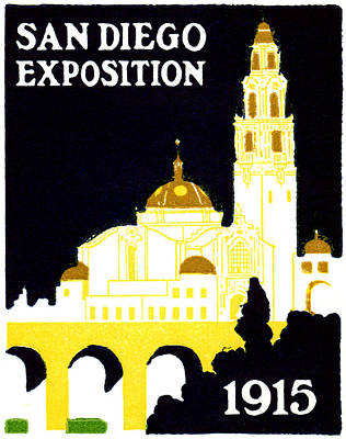 Painting - 1915 San Diego Expo Poster 1 by Historic Image