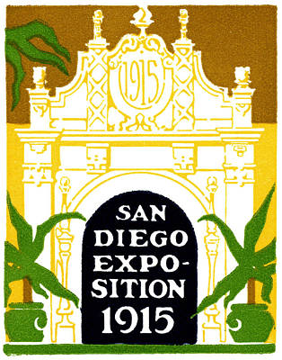 Painting - 1915 San Diego Expo Poster 3 by Historic Image