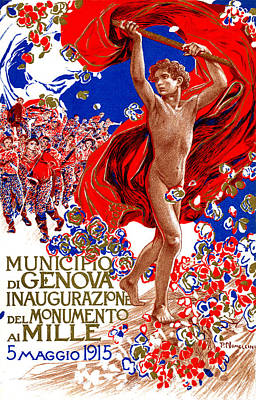 Painting - 1915 Unified Italy Poster by Historic Image