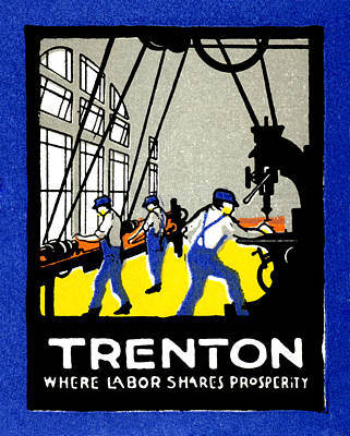Painting - 1915 Vintage Trenton New Jersey Poster by Historic Image