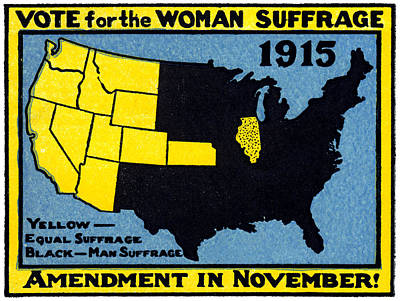 1915 Vote For Women's Suffrage Art Print