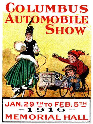 Ohio Painting - 1916 Columbus Auto Show by Historic Image