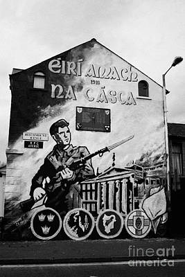1916 Dublin Easter Rising Commemoration Republican Wall Mural Beechmount Rpg Belfast Art Print by Joe Fox