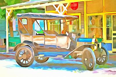 1916 Model T Ford  Art Print by L Wright