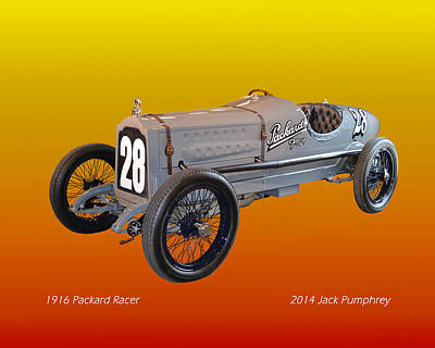 1916 Packard Twin Six Racer Art Print by Jack Pumphrey