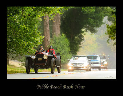 Photograph - 1916 Stutz Series B Bearcat - Pebble Beach Rush Hour by Jill Reger