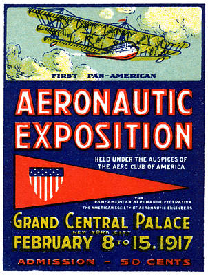 Painting - 1917 Aviation Exposition by Historic Image