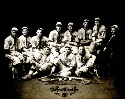 1917 Baseball Team Art Print by Historic Image