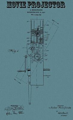 Reel Mixed Media - 1917 Movie Projector Patent by Dan Sproul