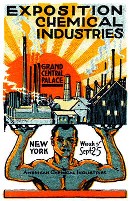 Painting - 1917 Nyc Chemical Expo Poster by Historic Image