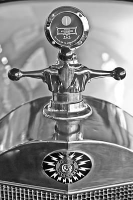1917 Photograph - 1917 Owen Magnetic M-25 Hood Ornament - Moto Meter by Jill Reger
