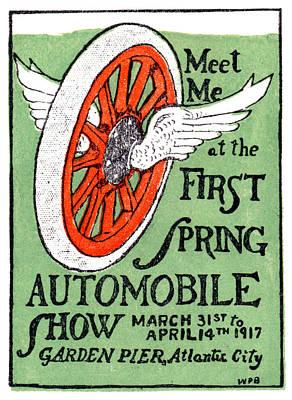 Painting - 1917 Spring Auto Show by Historic Image