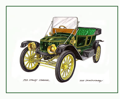 Painting - 1917 Stanley Steamer by Jack Pumphrey
